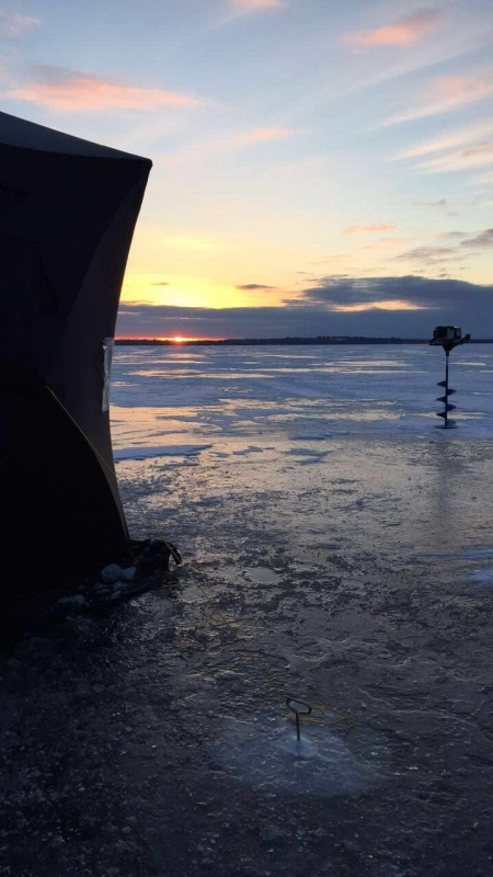 Ice fishing specific for Lake simcoe fishing